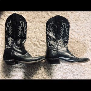 Nocona Men's Leather Black Imperial Western Boots